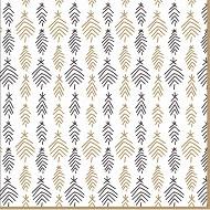 Serviettes x20 en ouate branches de sapin noir /or 33x33cm 3plis