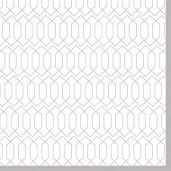 Serviettes x20 en ouate guest blanc/argent 33x33cm 3plis