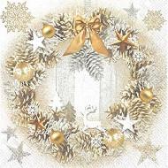 20 Serviettes 33x33cm 3 plis winter wreath