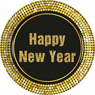 8 assiettes d 23cm happy new year