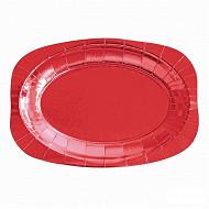 Plateaux x4 rectangulaires rouge 15x34cm