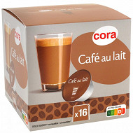 Cora capsule type dolce gusto café latte X16 160g