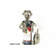 "Cache bouteille sommelier ""wine"" 16x13,5x20cm"