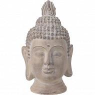 Tête de bouddha 26x25x41cm crème antique