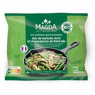 Magda duo haricots verts, champignons de Paris persillade bio 600g