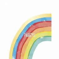 6 sacs cadeaux rainbow