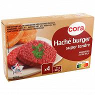 Cora haché burger super tendre VBF 4x125g