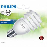 Ampoule PHILIPS Tornado T2 23W E27 Blanc lumière du jour blister de 1