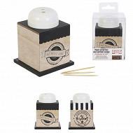 Boîtes 150 piques apéritives bois dans support