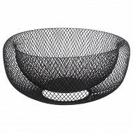 Corbeille métal coloris noir 27 cm