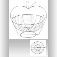 Corbeille forme pomme 35 cm