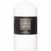 Bougie ronde coloris blanc 355g