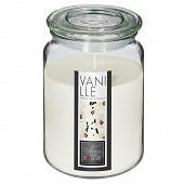 Bougie parfumée Nina dans pot en verre Vanille 510 g