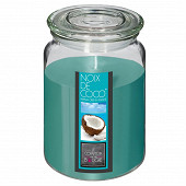 Bougie parfumée Nina dans pot en verre coco 510 g