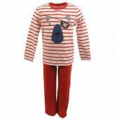 Pyjama long manches longues RAYE ROUGE 10ANS