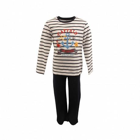 Pyjama long manches longues RAYE MARINE 8ANS