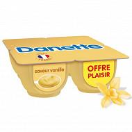 Danette crème dessert saveur vanille 4x125g offre plaisir