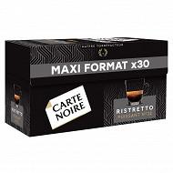 Carte noire capsules type nespresso ristretto x30 159g