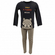Pyjama long manches longues garçon MARINE/GRIS CHINE 5 ANS
