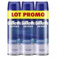 Gillette gel à raser series hydratant lot de 3x200ml