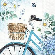 Serviettes x20 nature cycling 33x33cm 3 plis