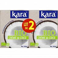 Kara lot 2 crème coco bio 2x200ml