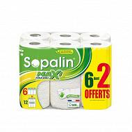 Sopalin essuie tout sur mesure blanc 6+2