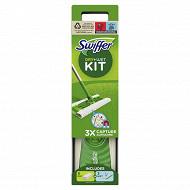 Swiffer balai attrappe-poussiere kit de démarrage avec 1 lingette