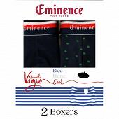 Lot de 2 boxers ligne Nouvelle Vague Eminence 2110 MARINE/IMP POMME GRANNY T3