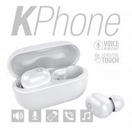 Kphone Ecouteurs bluetooth avec sa boite de chargement Lolite blanc KP-E066-LOLITE-WHI