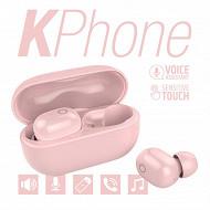 Kphone Ecouteurs bluetooth avec sa boite de chargement Lolite rose KP-E066-LOLITE-PIN
