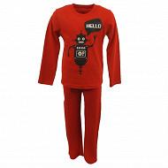 Pyjama long manches longues garcon ROUGE 5 ANS
