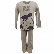 Pyjama long manches longues garcon GRIS CHINE 10 ANS