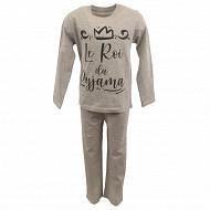 Pyjama long manches longues garcon GRIS CHINE 5 ANS