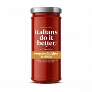 Italians do it better sauce tomate et olives puttanesca 330g