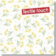 Serviettes x12 textile touch draconi yellow 40x40cm 1 pli