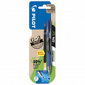 Roller gel g-2 bleu + 1 recharge bonus pack