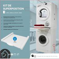 Home Equipement kit de superposition avec tiroir pour lave linge et sèche linge 80150