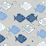Serviettes x20 costafish mist 33x33cm 3 plis
