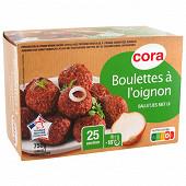 Cora boulettes à l'oignon VBF 15% mg 25 environ 750g