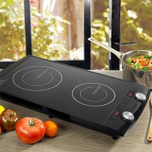 Kitchencook Double plaque de cuisson à induction tactile - INDUC2_BLACK
