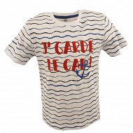 Tee shirt manches courtes garçon blanc wave WHITE/WAVE 6ANS