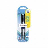 2 stylo billes FLEXGRIP ULTRA rétractables,  Noir