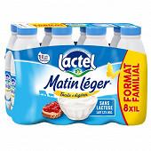 Matin léger de lactel lait uht 1,2% mg bouteille plastique 1l x8