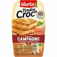 Herta Croque Monsieur campagne sans nitrite x2 200g
