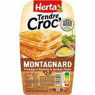 Herta Croque Monsieur montagnard sans nitrite x2 200g