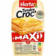 Herta Croque Monsieur maxi jambon fromage sans nitrite x2 300g