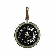 """Poêle """"ECO COOKING"""" 24 cm induction en acier émaillé"""