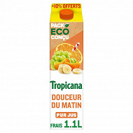 Tropicana Pure Premium douceur du matin 1l + 10% offert