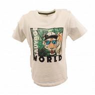 Tee shirt manches courtes garcon ECRU 10 ANS